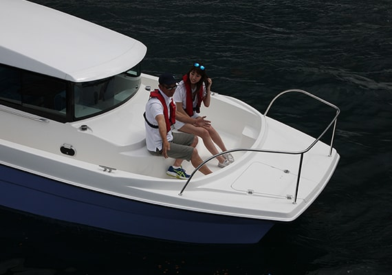 Comfortabe with a spacious Bow Deck.